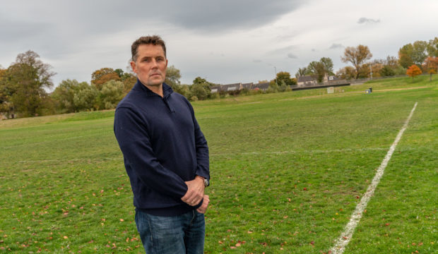 Dave Allen, chairman of the Elgin Sports Community Trust at Lesser Borough Briggs Fields.