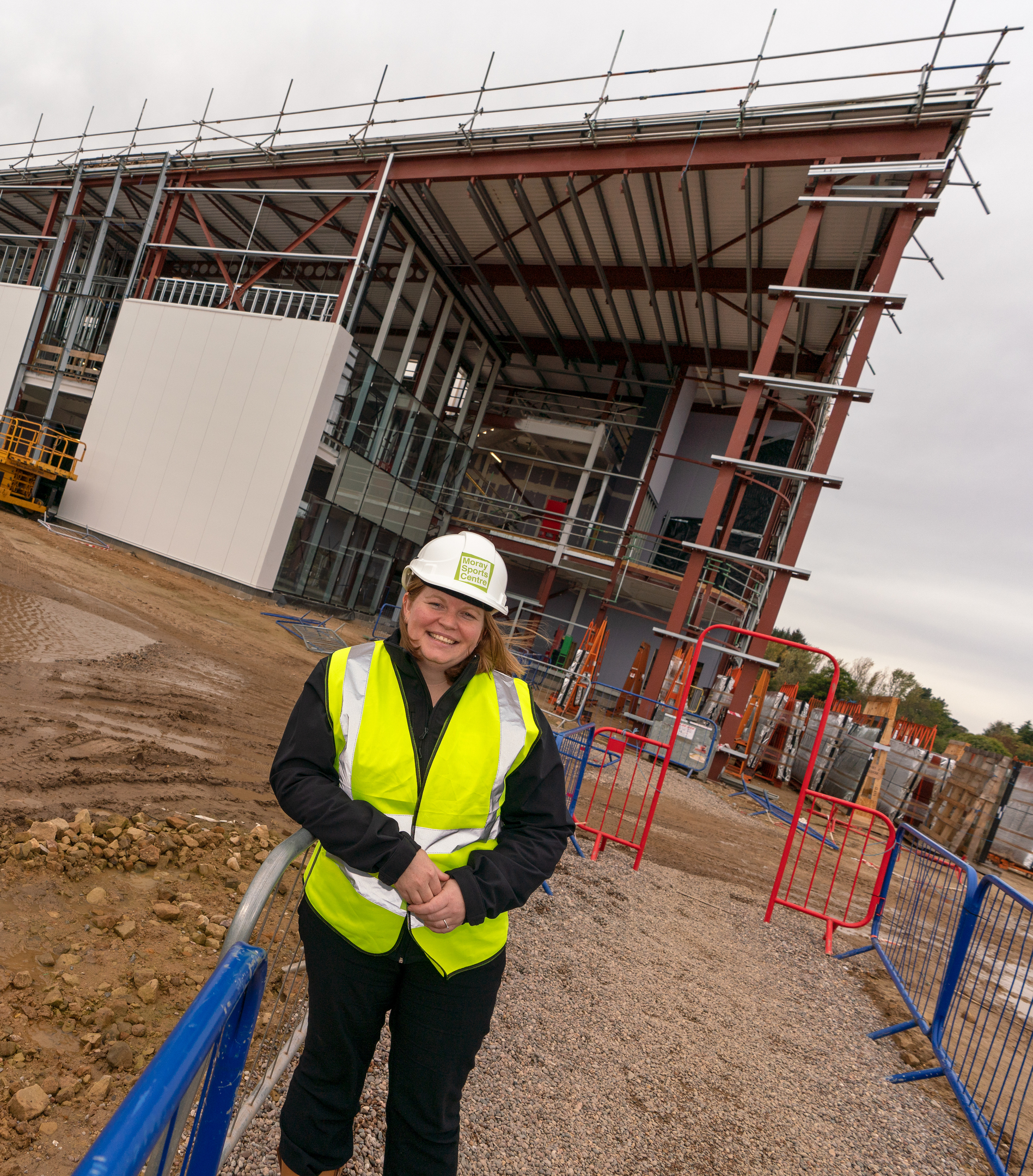 Laura Grace, Moray Sports Centre marketing and communications assistant outside the centre