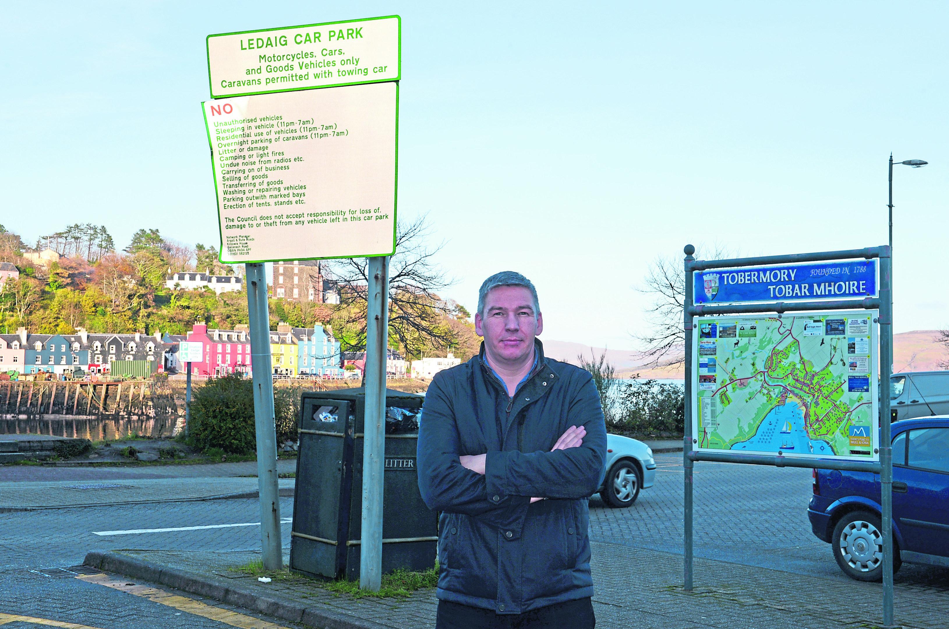 Neil Morrison at Ledaig Car Park.
