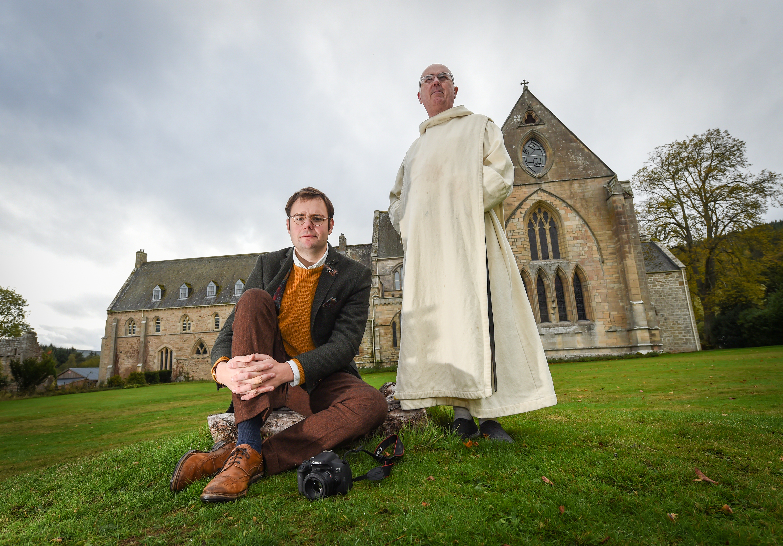 Filmmaker Christopher Court and brother Finbar pictured at Pluscarden Abbey, Moray. Picture by Jason Hedges.