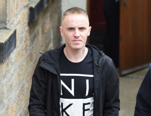 Steven Cordiner, leaving Elgin Sheriff Court