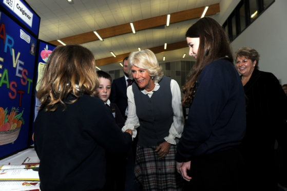 The Duchess of Rothesay  visits Alford Community Campus.
