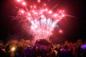 Ellon roundtable Fireworks, 27th October 2018.  Firework Display in Ellon with on lookers.  Picture by Scott Baxter    27/10/2018