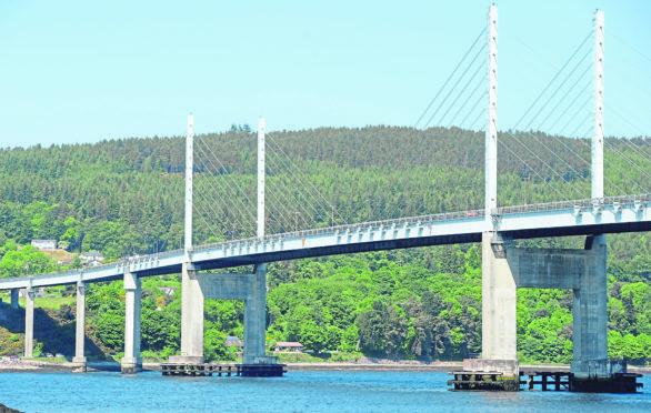 The Kessock Bridge.