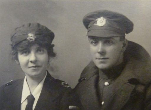 Robert Stephen with his cousin Cissy Taylor.