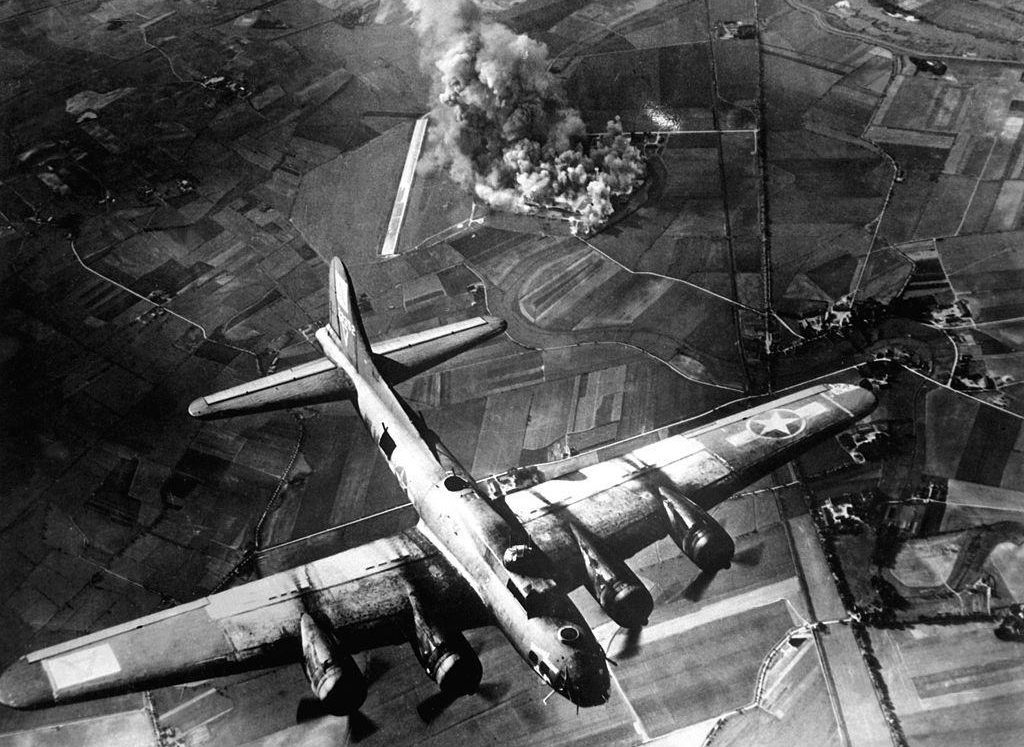 Shock waves from huge bombs dropped on Germany during the Second World War