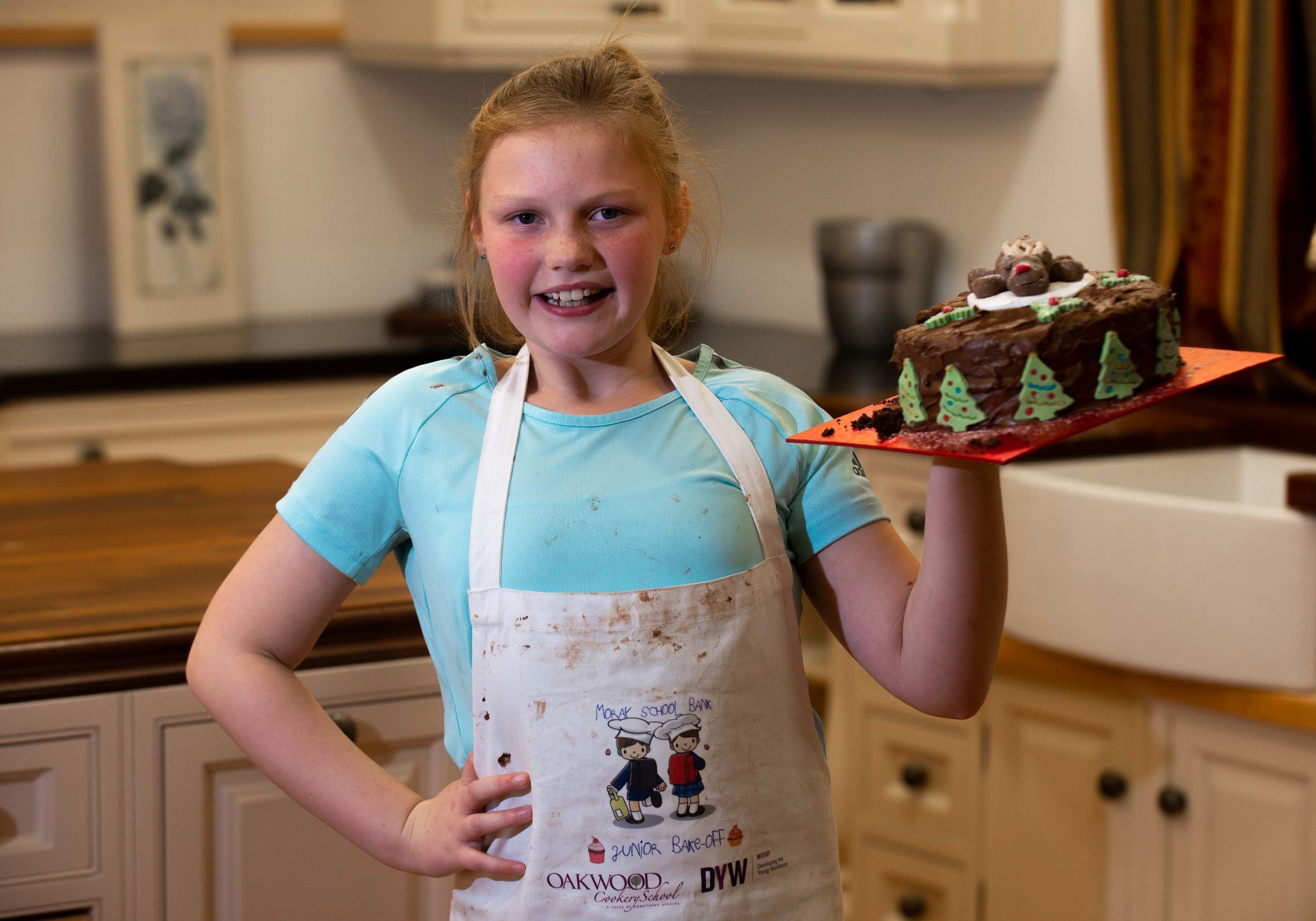Ruby Jappy was named the winner of the Moray Junior Bake Off.