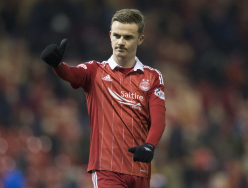 James Maddison during his loan spell with Aberdeen in 2016.