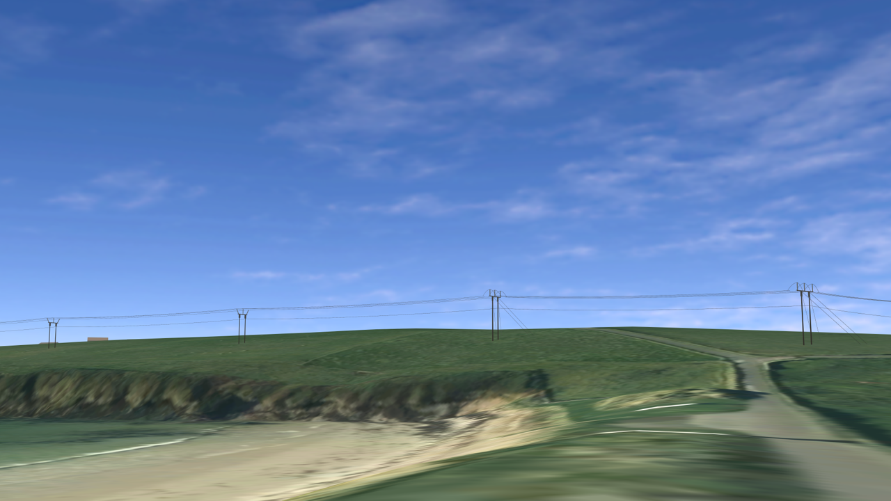 How the view from Sand of Wright could look with the trident line in place.