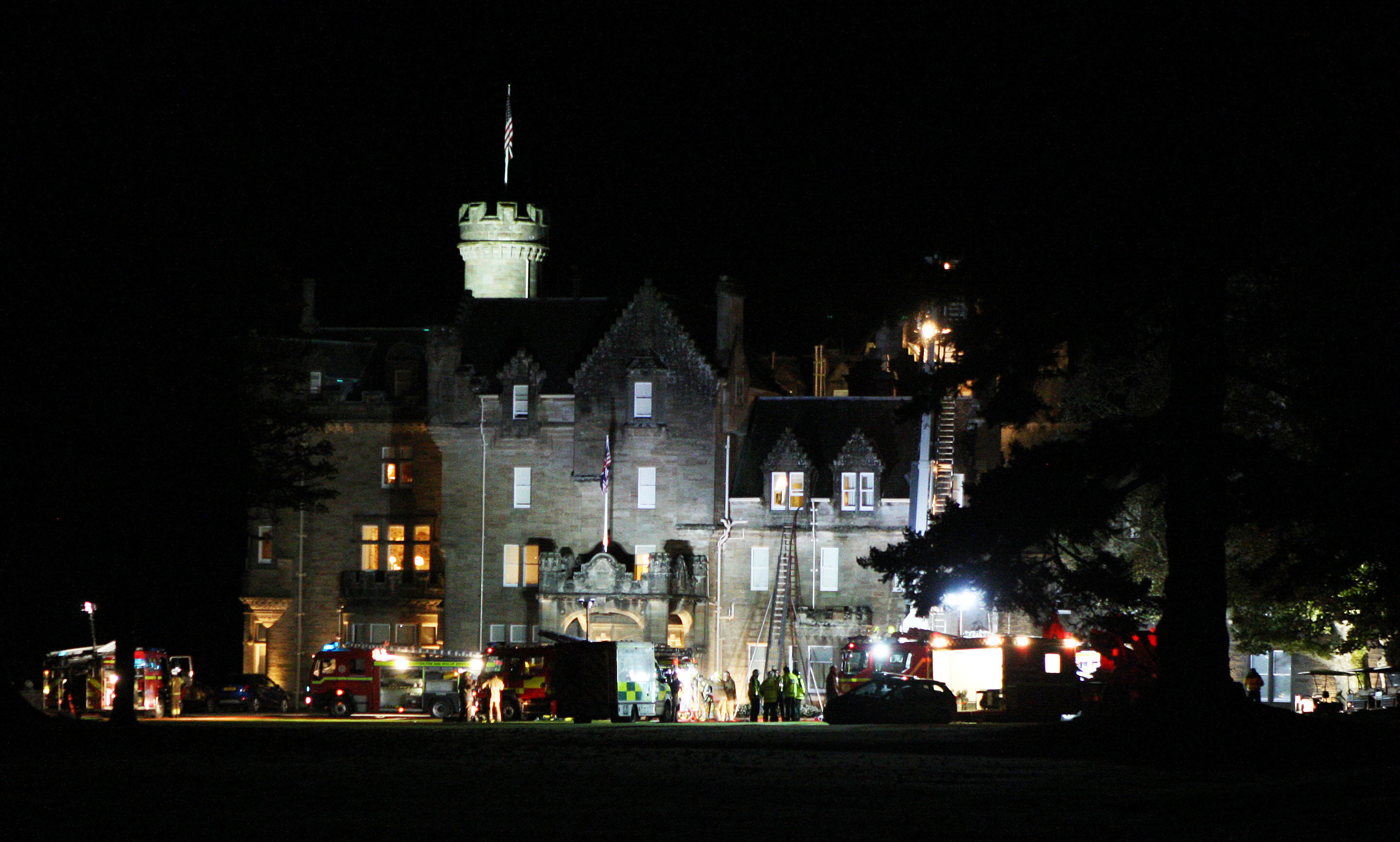 Emergency services attended a fire at Skibo Castle.