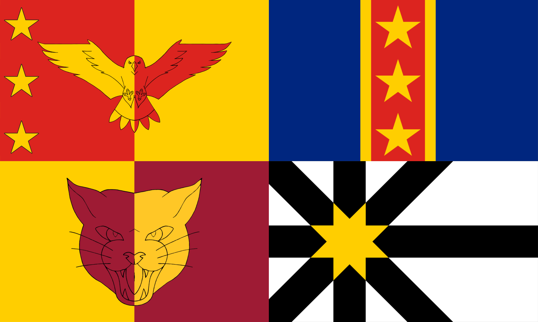 The finalists in the Flag for Sutherland public vote.