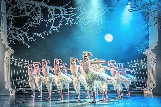 Matthew Bourne's production of Swan Lake in Aberdeen.