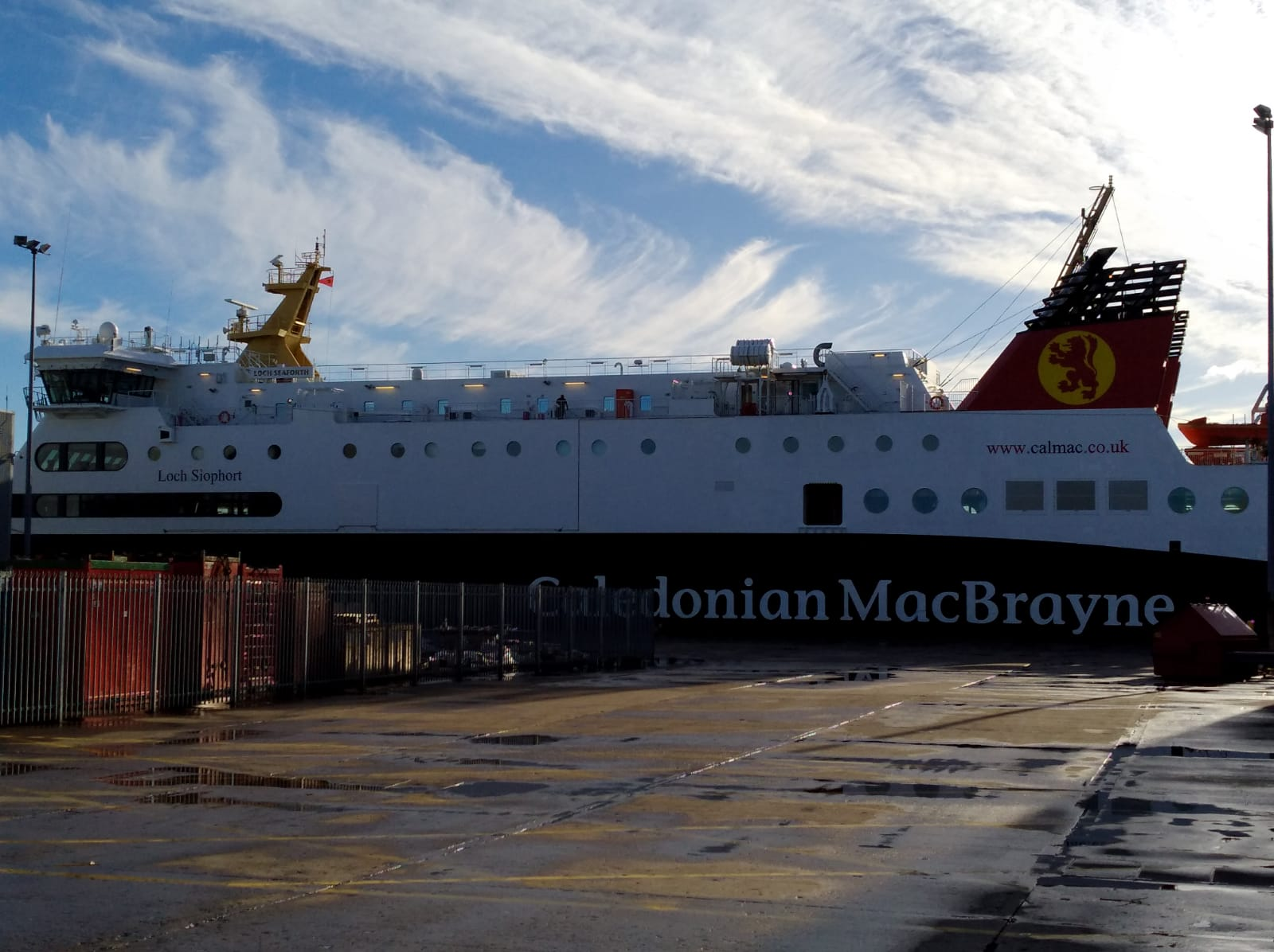 Loch Seaforth in Aberdeen Harbour for a scheduled check over