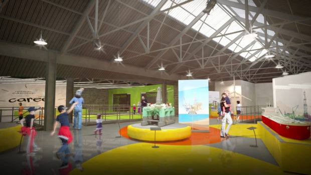 An illustration of the new design for Aberdeen Science Centre. During lockdown, the centre has moved online.