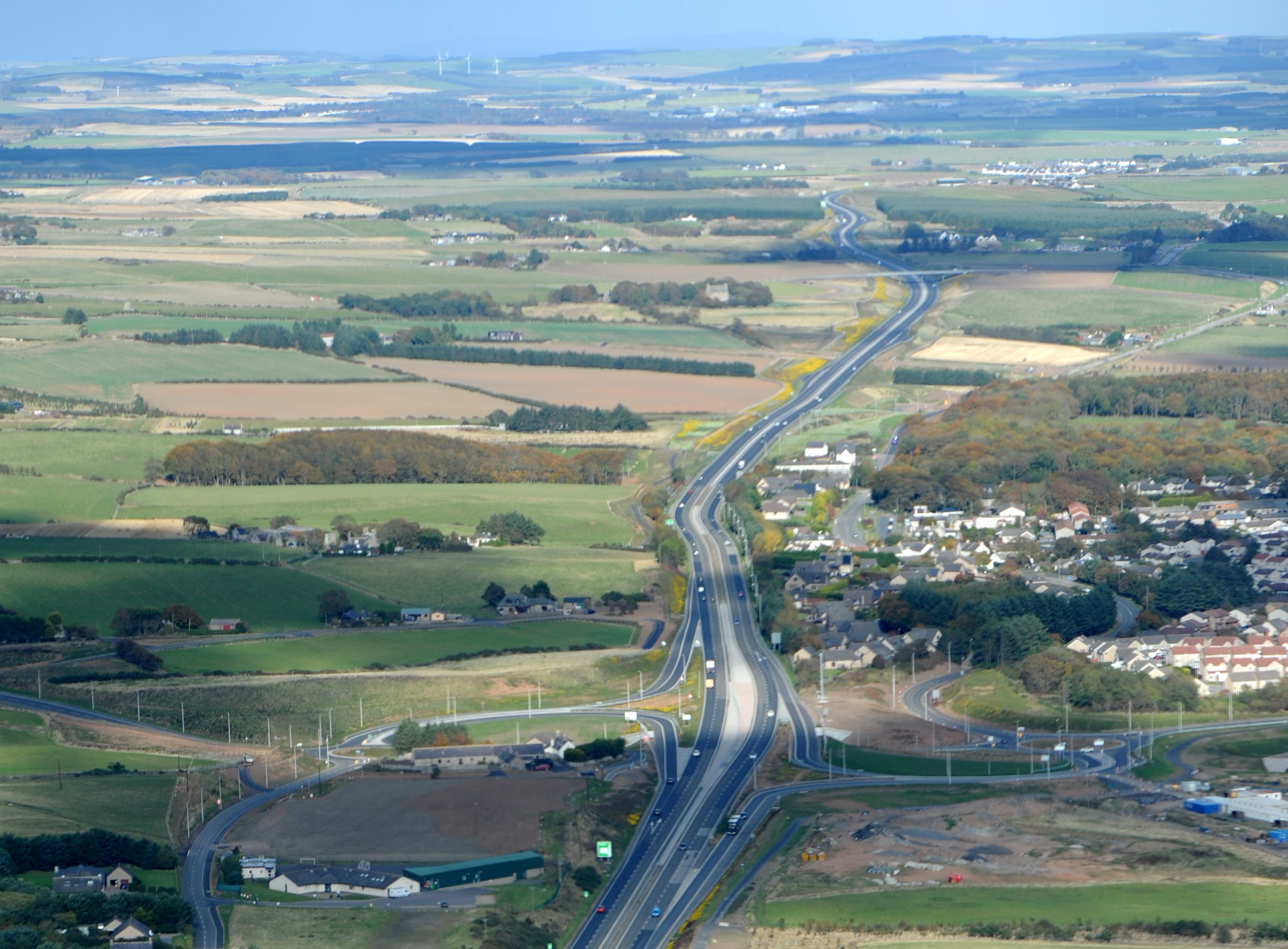 The northern route of the AWPR at Balmedie connecting with the A90.