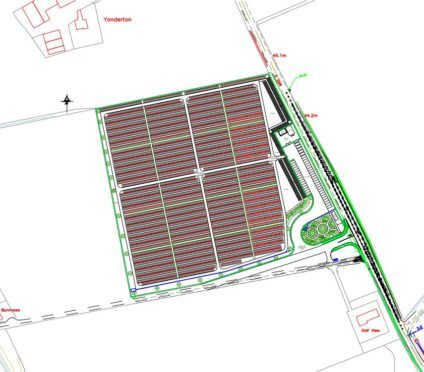 The proposals for the new cemetery in Ellon.