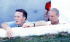 Scotland manager Jock Stein and his assistant Jim McLean at the 1982 World Cup in Spain.