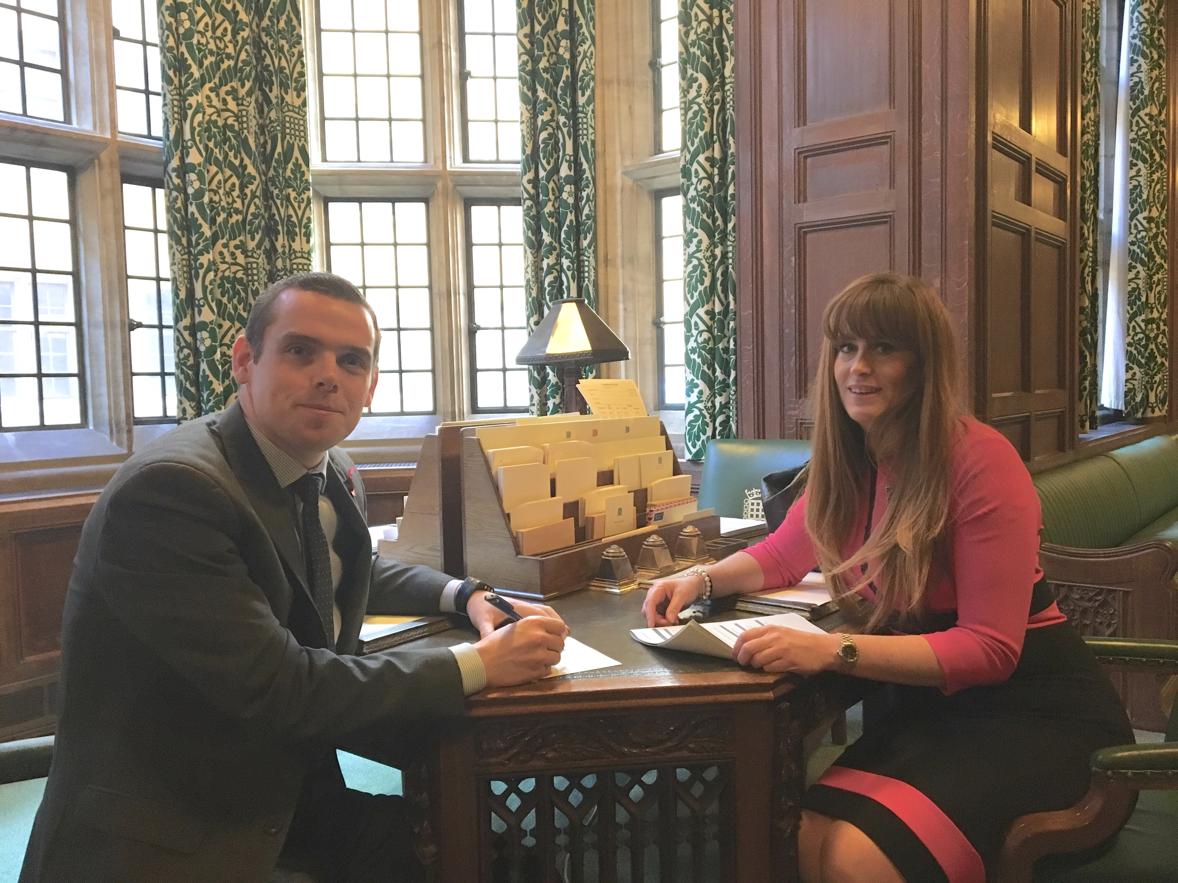 Douglas Ross MP met with Small Business and Consumer Protection Minister Kelly Tolhurst MP.