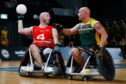 Michael Mellon competing in wheelchair basketball