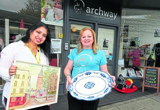Shamina Khatum, left and Janine Davies at the shop.