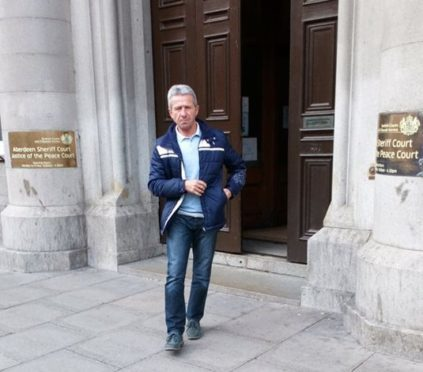 Sipika leaving Aberdeen Sheriff Court yesterday