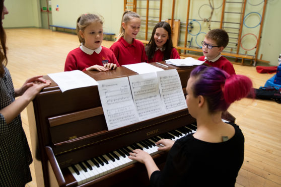 Childrens Community Choir at Bramble Brae School.