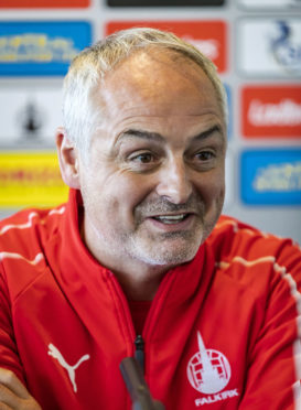 04/09/2018  FALKIRK STADIUM - FALKIRK  Ray McKinnon officially unveiled as the new Falkirk manager.