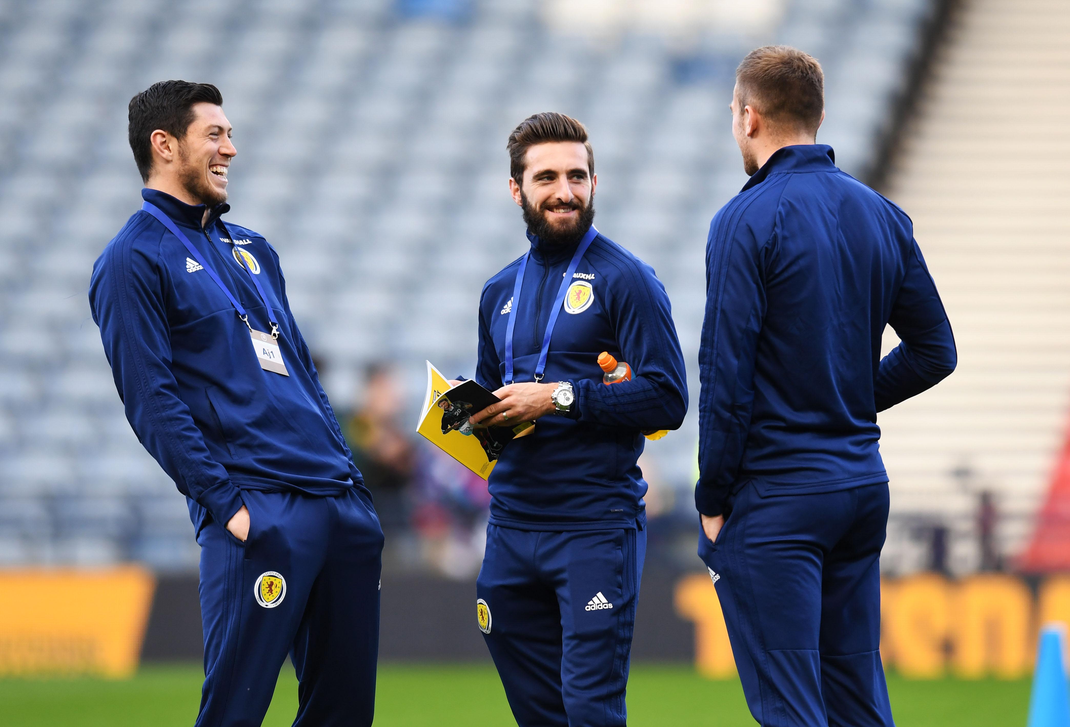 Scott McKenna and Graeme Shinnie are in the Scotland squad.