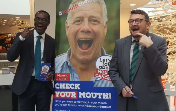 Jonathan Iloya and Victor Lopes launched the campaign at the Bon Accord Centre, Aberdeen.