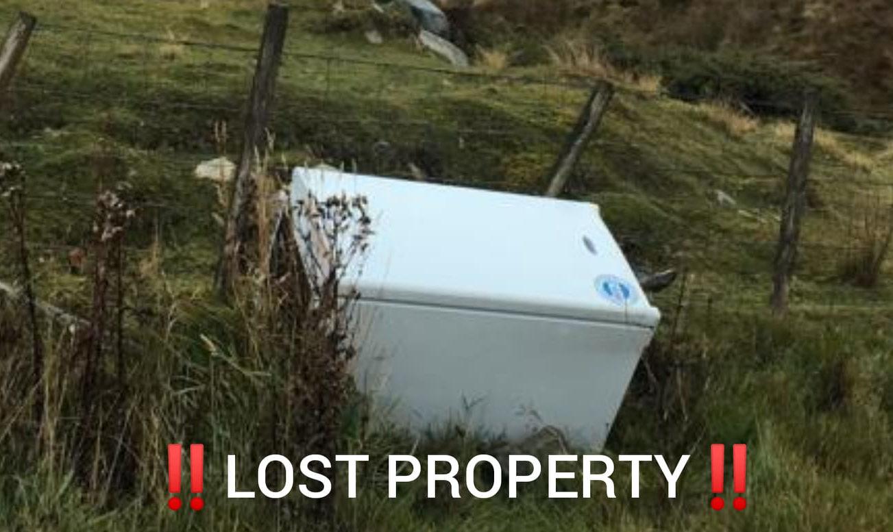 The fridge left by the roadside.