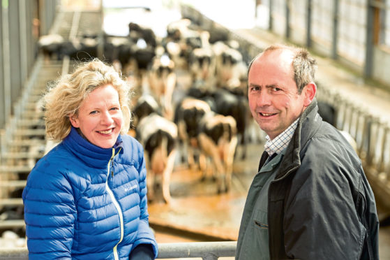 Jane and Bruce Mackie from Rora Dairy.