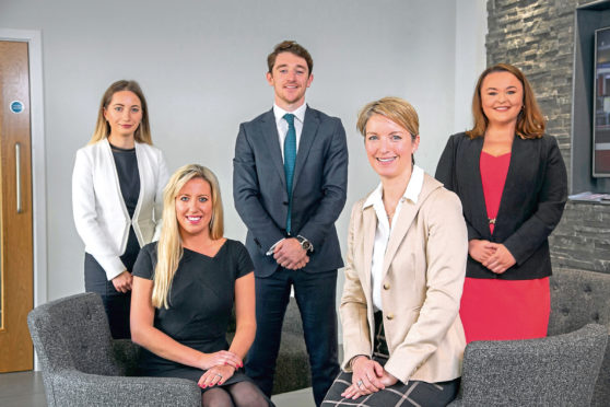 Brodies' oil and gas team: left to right - Dominika Rogolska, Natalia Fraser, Stephen Flynn, Clare Munro, Rae-Ann Marr