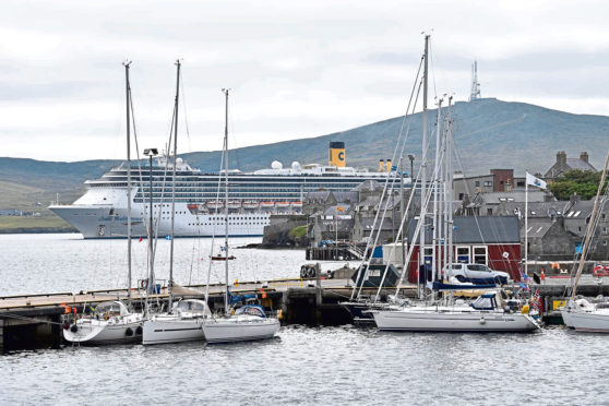 The Discovery calls at Lerwick