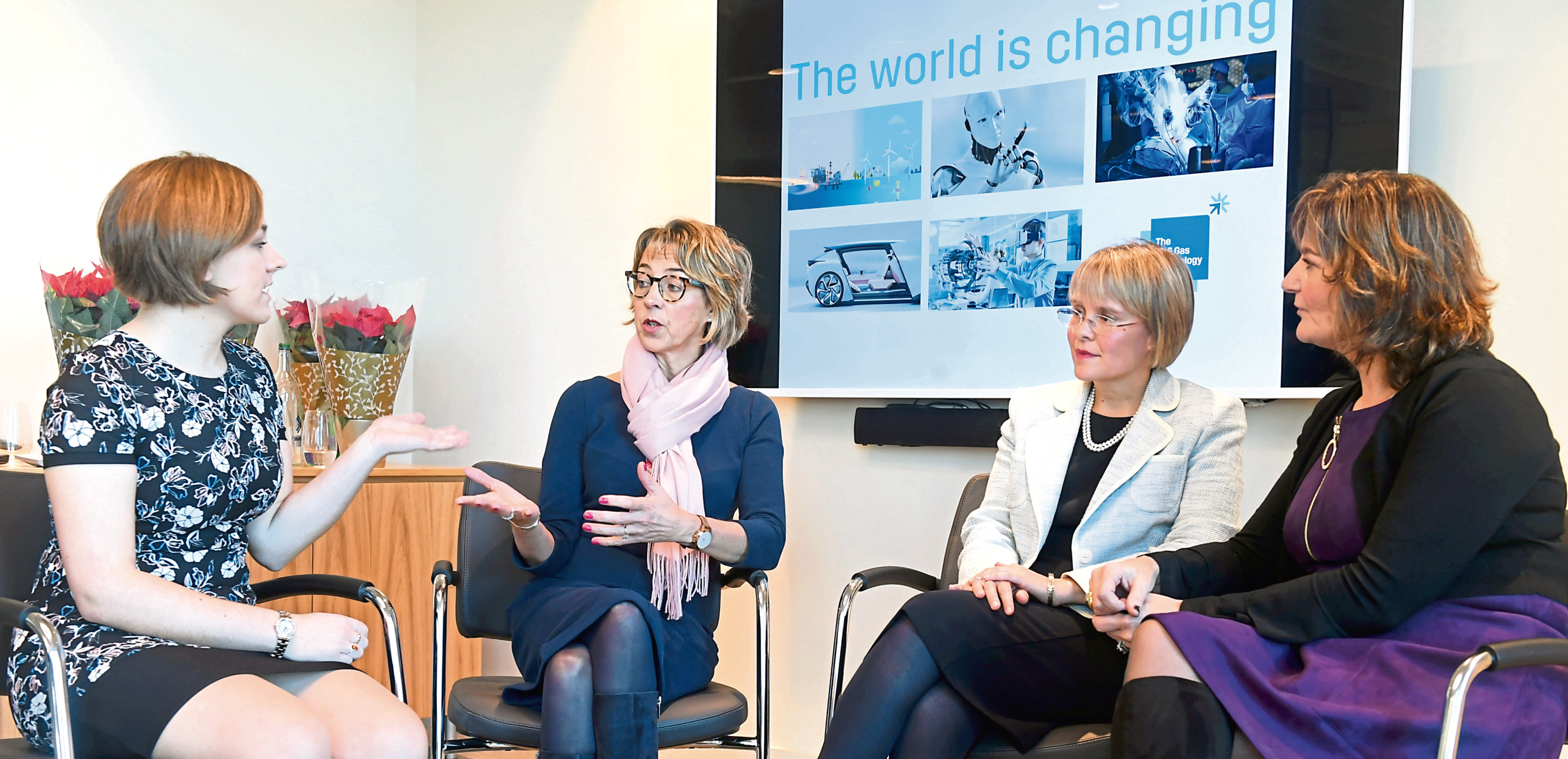 From left: Carla Taylor from the bank, Elizabeth Gammie from RGU, Ana Tomlinson from St Magarets School for Girls and Colette Cohen from the Oil and Gas Tecnology Centre.