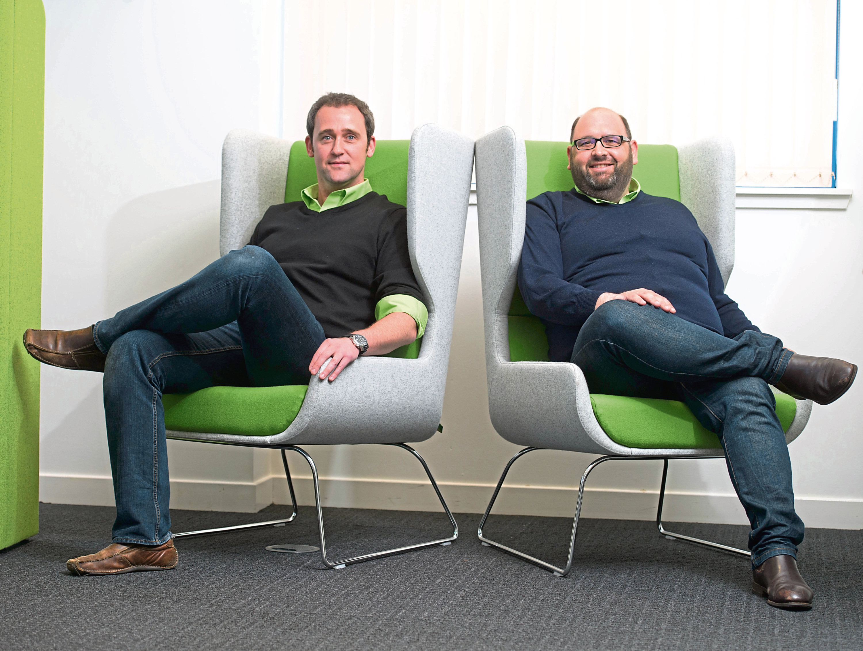 David Moncur, left, and Andrew Alleway.