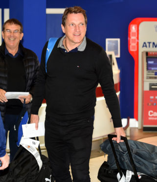 18/11/18 GLASGOW AIRPORT - GLASGOW Israel Manager Andreas Herzog