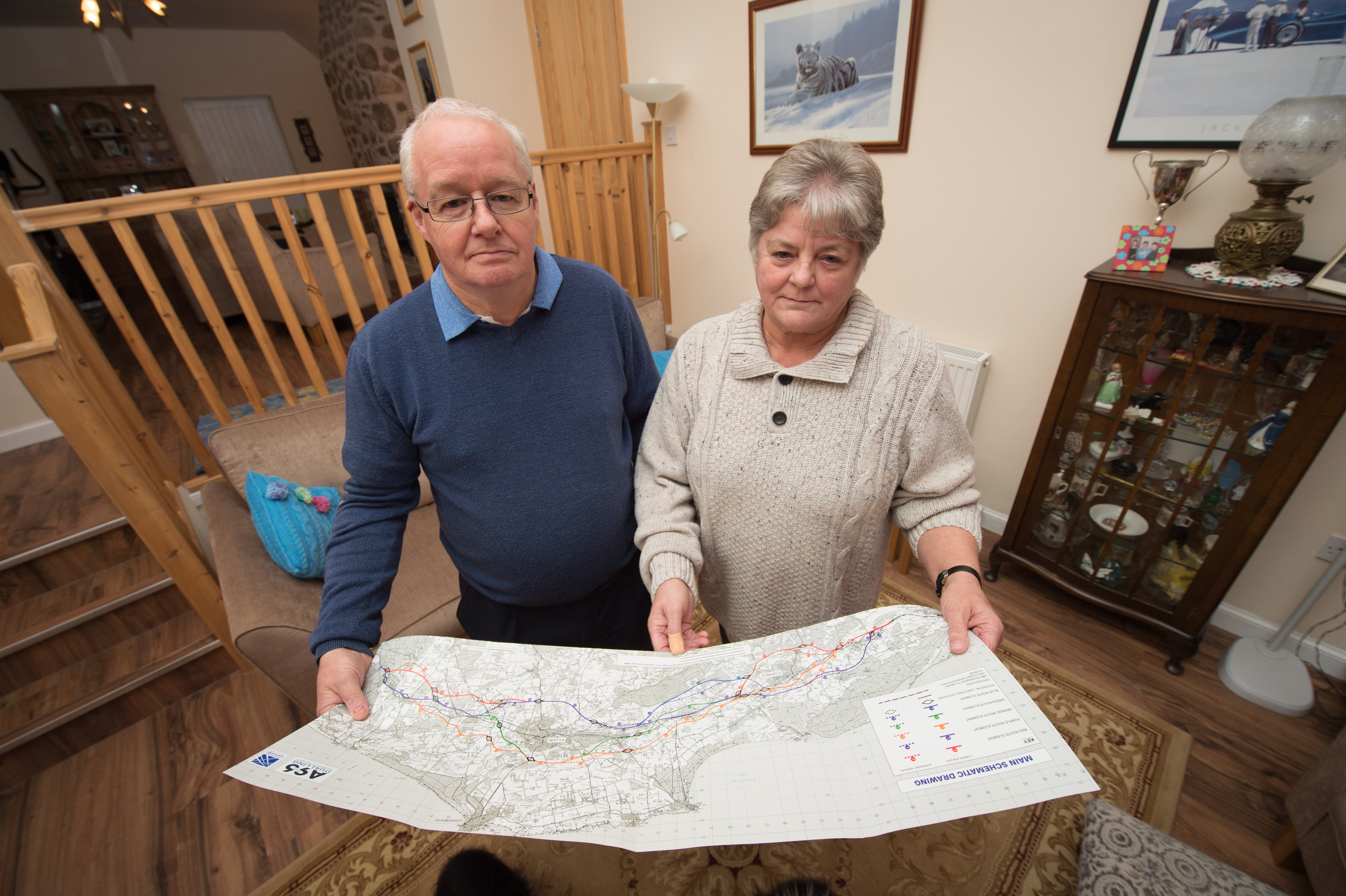 Ian and Margaret Gray at their Mosstowie home, near Elgin.