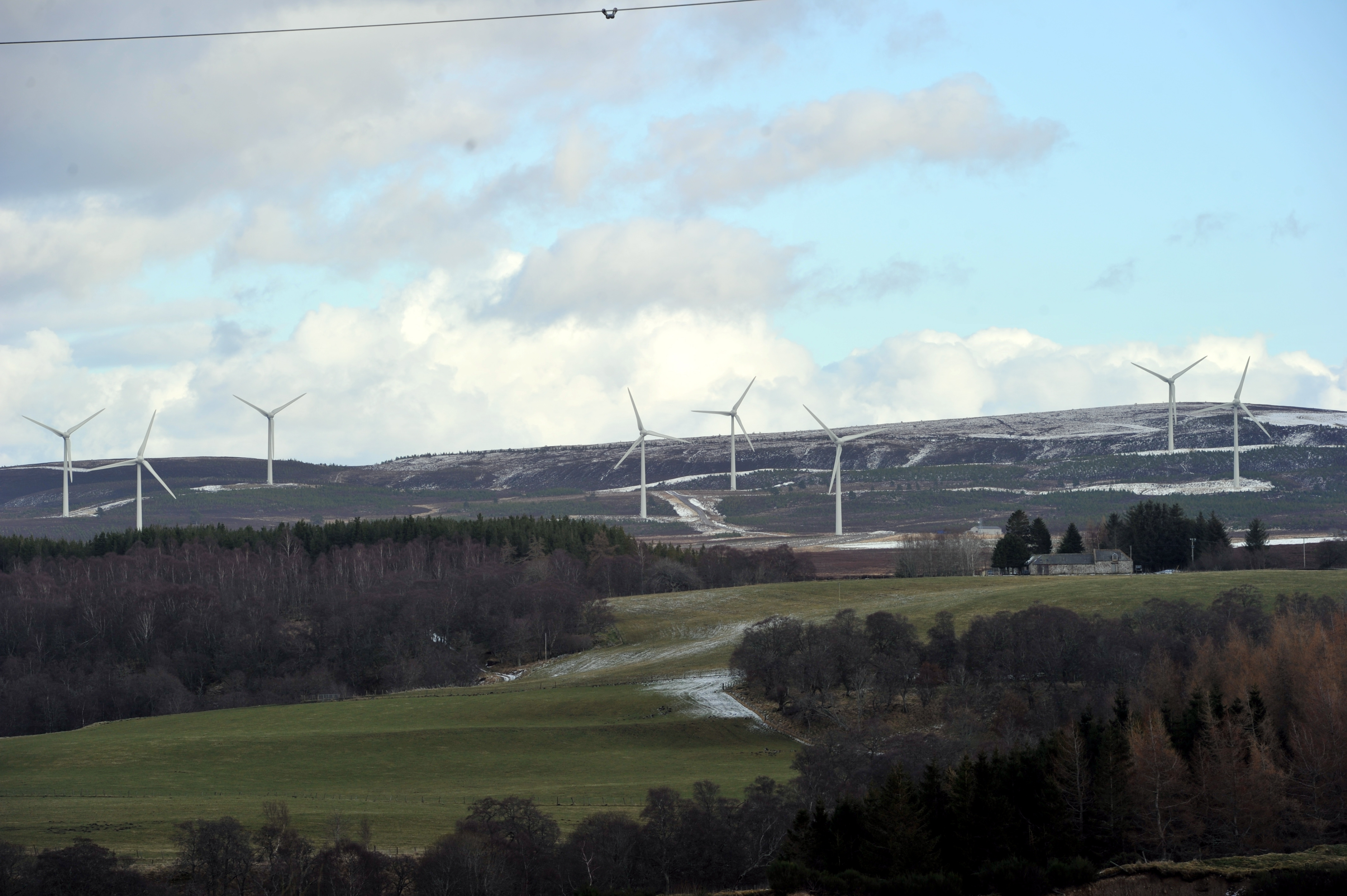 The Berry Burn wind farm currently has 29 turbines.