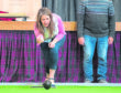 Scottish Government Communities Minister Aileen Campbell is pictured at Buckie Fishermans hall, Moray and is pictured playing Bowls. Picture by Jason Hedges.