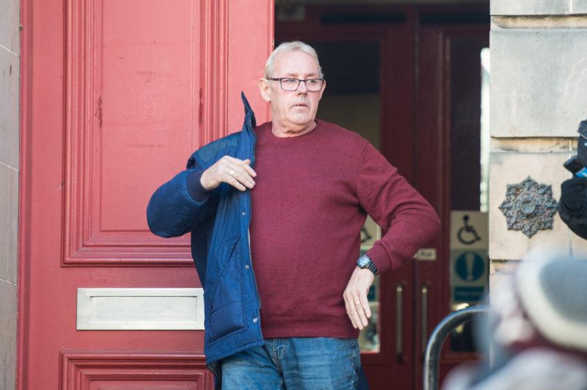 David McLachlan leaving Elgin Sheriff Court.