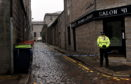 Diamond Lane was cordoned off by police.