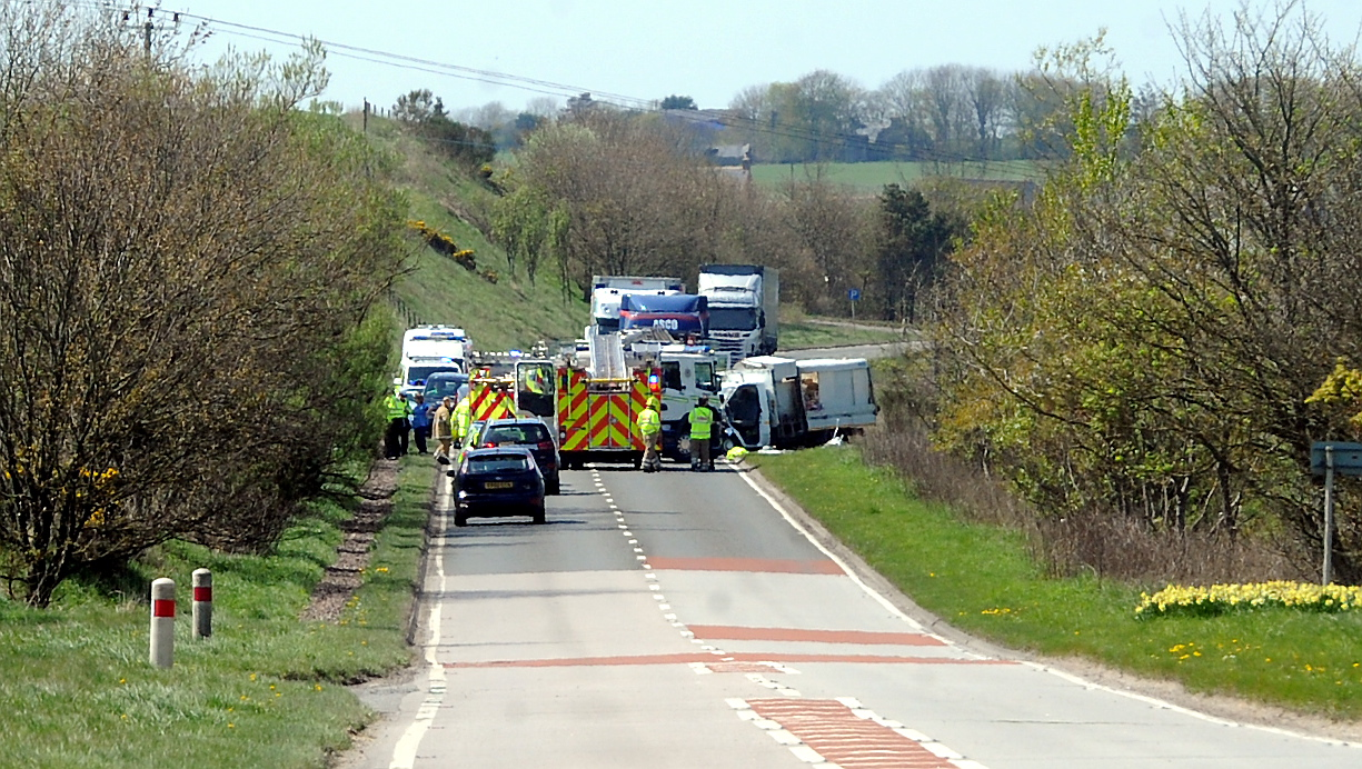 The scene of the crash in Hatton.