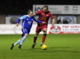 Jamie Stevenson, left, in action for Peterhead