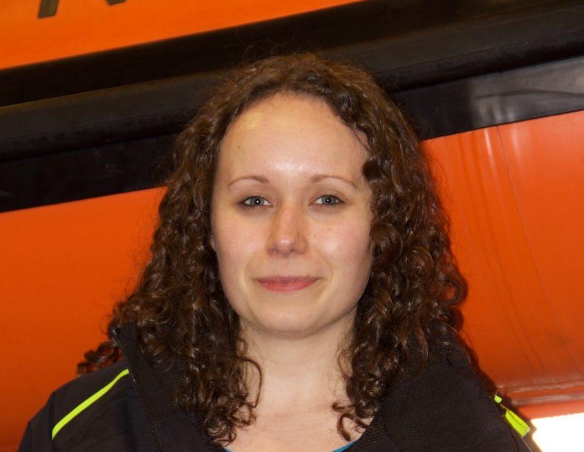 Kyle of Lochalsh RNLI's newest helmsman, Emma Noble. Emma passed her exams along with fellow volunteer Andrew MacDonald.