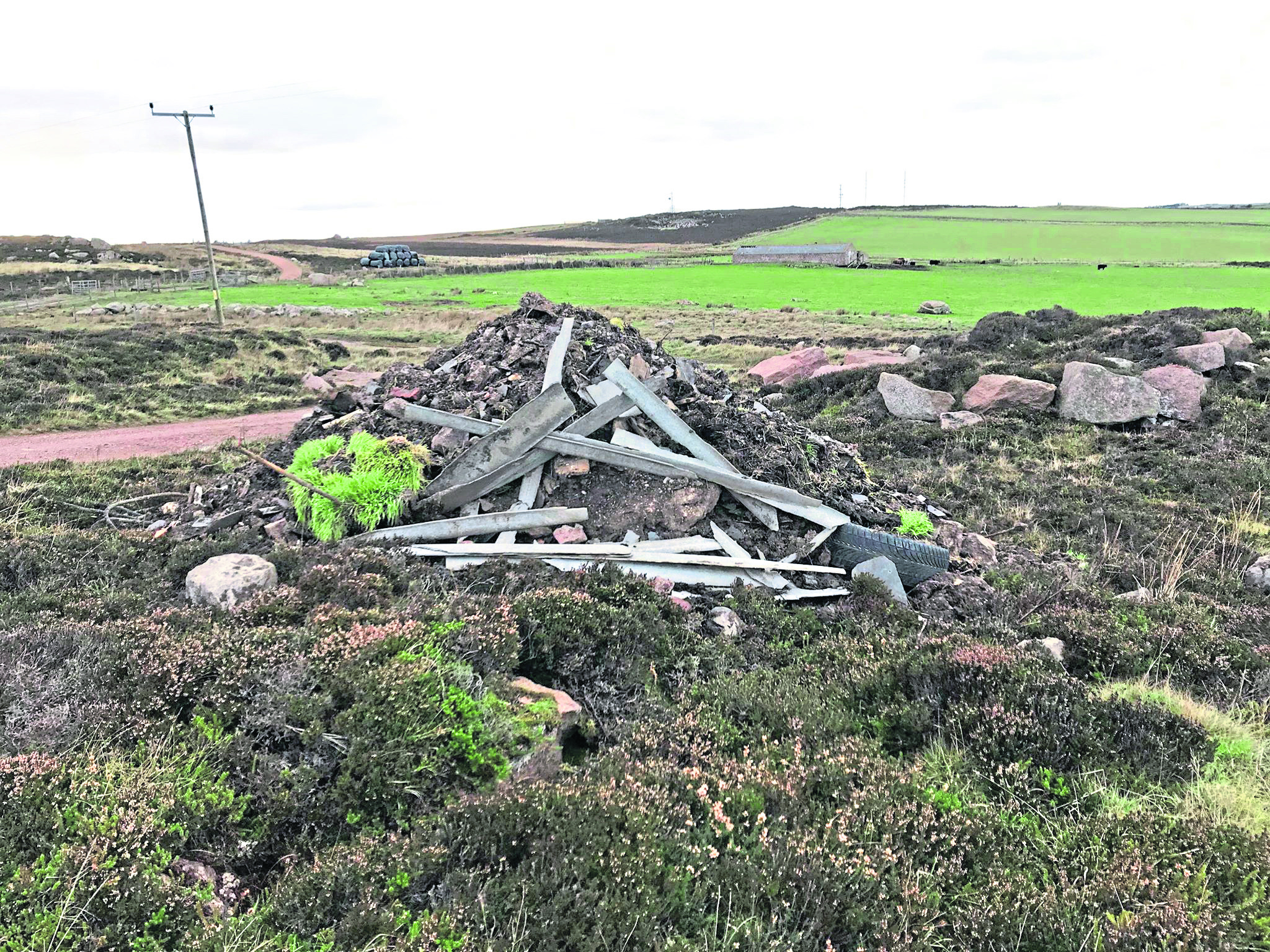 The fly-tipping at Stirling village.