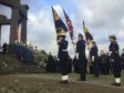 Poppy wreaths were laid at Stonehaven's war memorial to mark the 100th anniversary of the World War I Armistice.