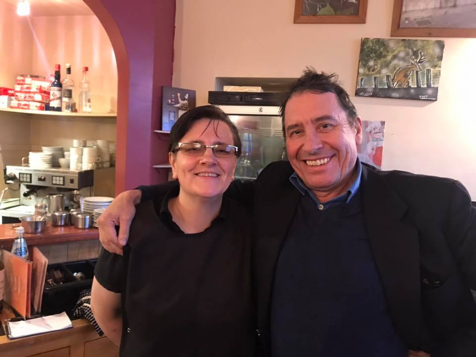 Jools Holland stopped by Carmine's in Aberdeen