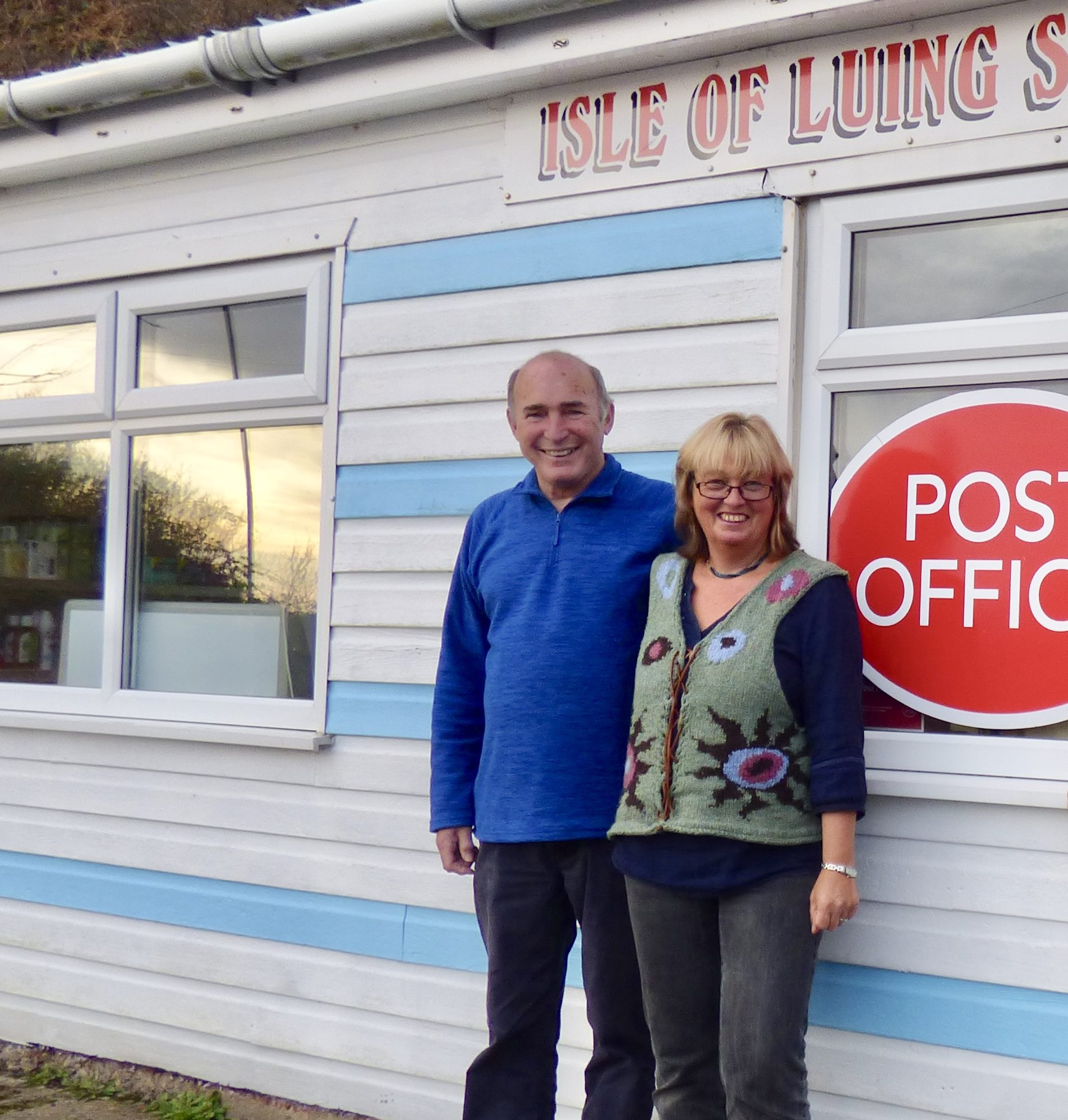 Birgit Whitmore and Norman Bissell will run the post office on Luing.