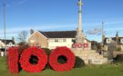 Mintlaw war memorial has been decorated to mark 100 years since the First World War.