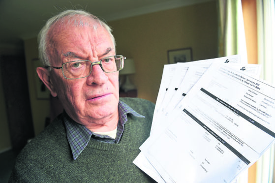 William Morrison of Culloden with the four Highland Council letters referring to the family home in Durness.